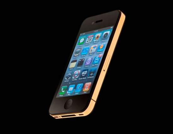Amosu Couture blings up the iPhone 4S in 24 carat gold for Christmas