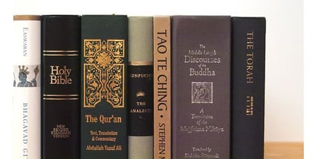 JUXTAPOSED: Religion bookshelf caters to the believer in one god