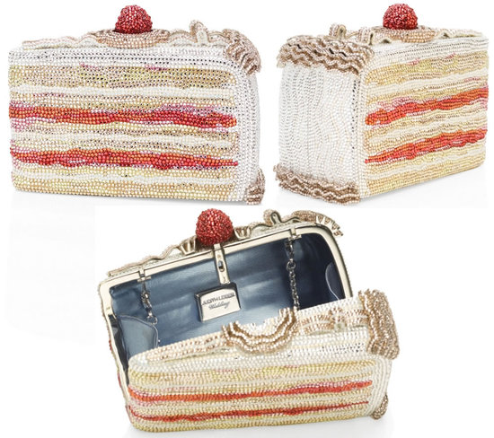 Judith Leiber Cake Slice Crystal Minaudiere is tempting