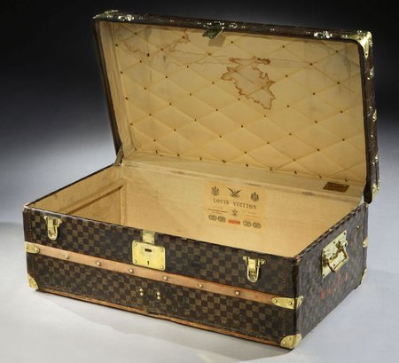 "Vintage Louis Vuitton ""Damier""  Trunk for $11,000"