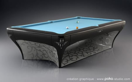 Luxury Billiards by world billiards champ Vincent Facquet