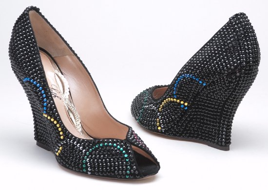 Olympic inspired shoes glam up with Swarovski crystals for well heeled fans