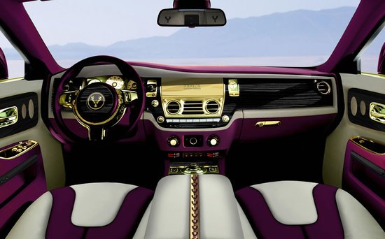 paris purple one off car by fenice milano rolls in gold for 3 million. Black Bedroom Furniture Sets. Home Design Ideas