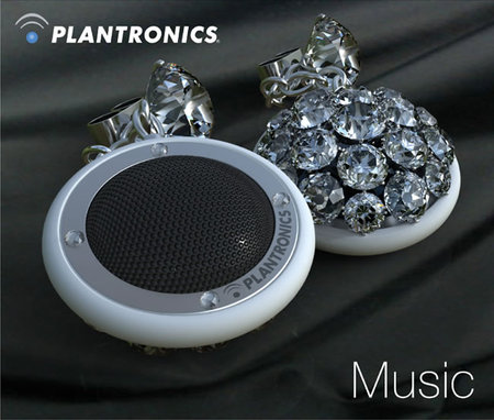Altec Lansing Sound Circles and Diamond Speakers encrusted with bling