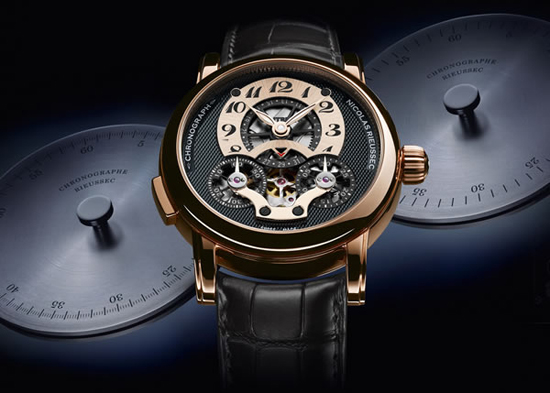 Emirates exclusive Montblanc Nicolas Rieussec TimeWriter Collection auctioned off