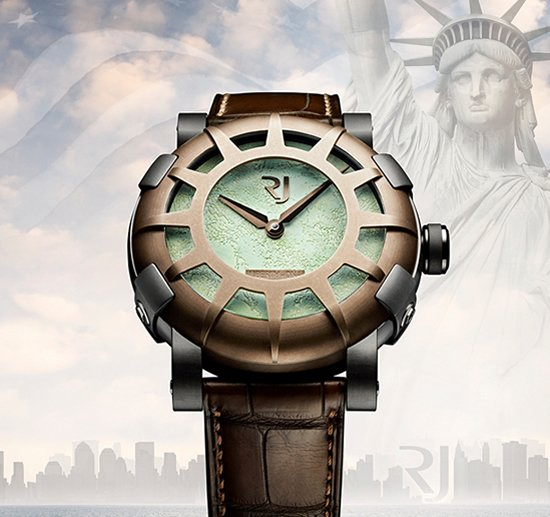 RJ Romain Jerome Liberty DNA watch celebrates the 125th anniversary of Statue of Liberty