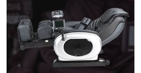 Reclining Multimedia Massage Chair is fun with integrated DVD and LCD