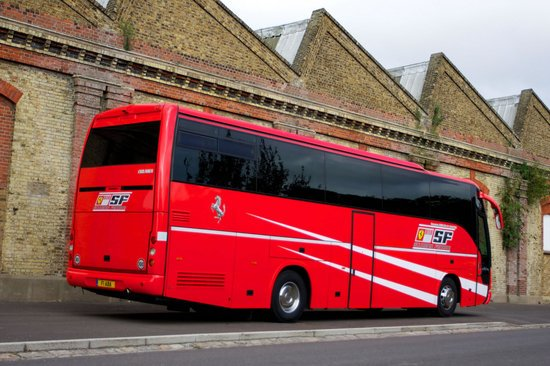 Scuderia Ferrari bus that once played motor home to Michael Schumacher to be auctioned