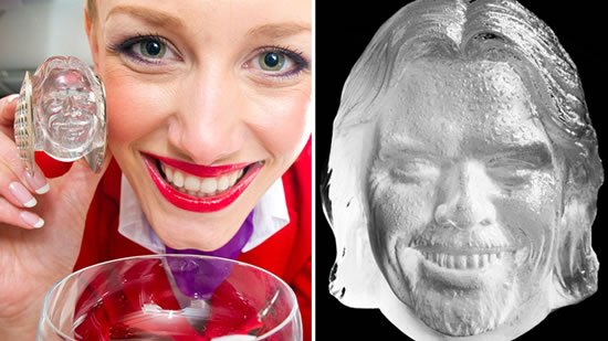 Virgin Atlantic to serve Sir Richard Branson shaped ice cubes in your drink