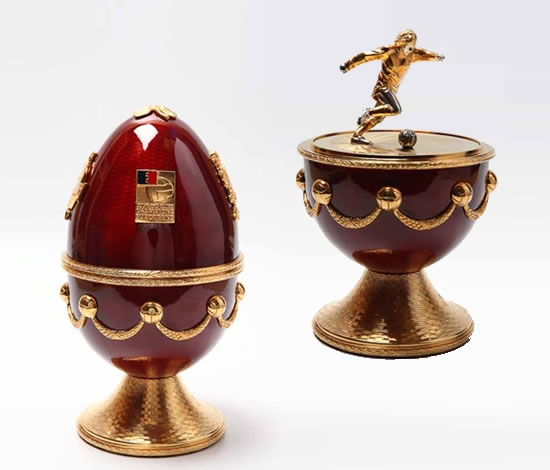 Faberge Eggs to honor football players are up for auction