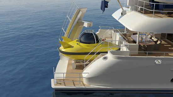 Sofia yacht by Moonen is overhauled with 3 person submarine to add a twist to your ocean saga