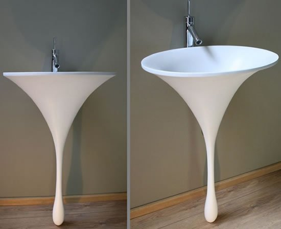 Spoon Bronze Sink Stands Out Like A Giant Teardrop In The