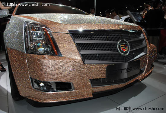 Crystal Car Wash >> A Cadillac CTS Coupe studded with 350,000 Swarovski crystals is on display in China