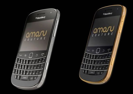 The worlds first Swarovski encrusted Blackberry Bold 9900 in 24ct gold