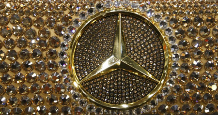 Swarovski Studded Mercedes Benz Sl600 Dazzles At 2010