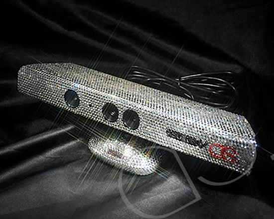 Swarovski studded Xbox 360 Kinect to play a bling game
