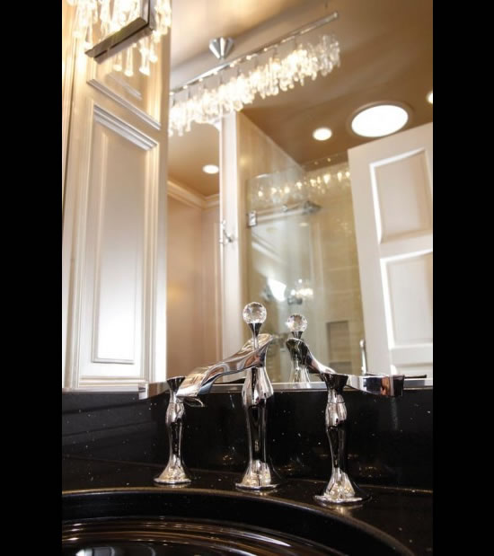 Swarovski Studded Bathroom Dazzles With Crystals Spread