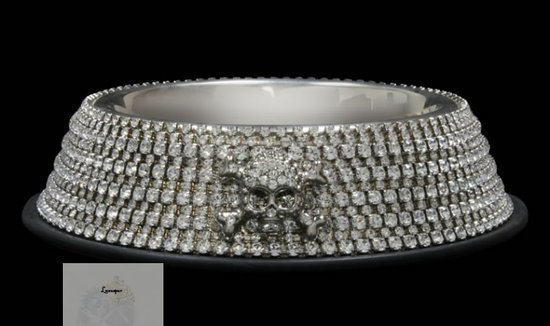 BB Simon offers Swarovski studded dog bowl for the pampered pet
