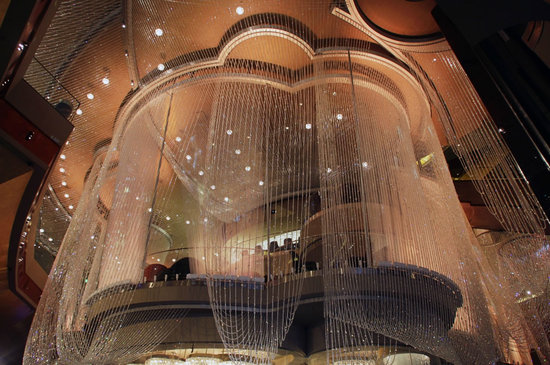 The Chandelier Bar is enveloped inside 2 million crystals in Las Vegas