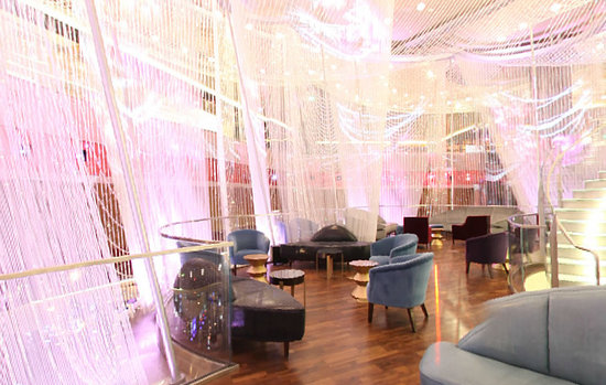 The Chandelier Bar Is Enveloped Inside 2 Million Crystals