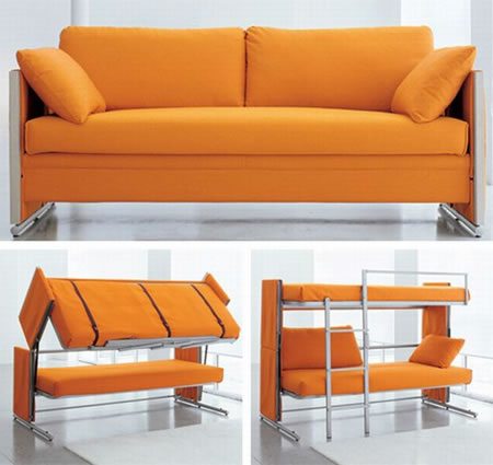 Magic The couch that turns into a bunk bed