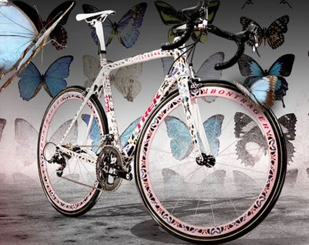 Damien Hirst custom designs Trek Madone bike for LIVESTRONG foundation