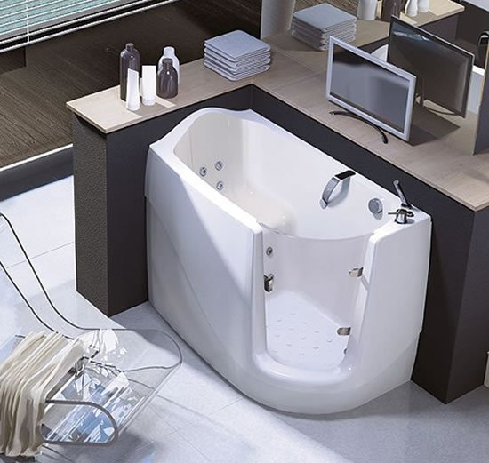 Walk In And Sit Down For A Refreshing Bath In A Compact
