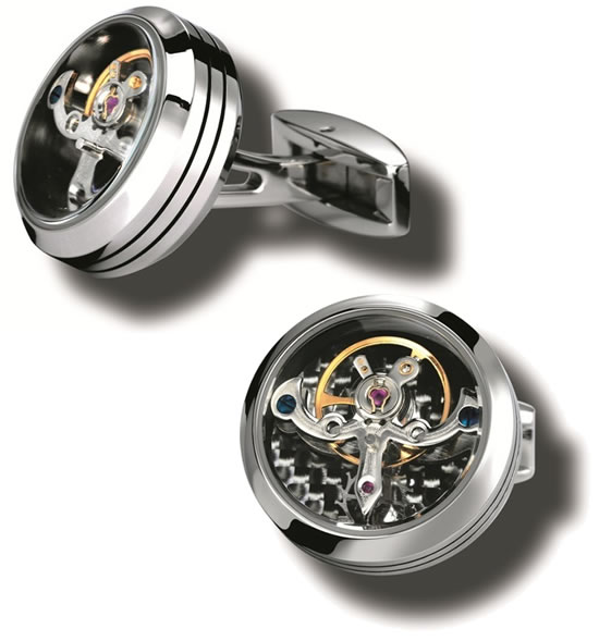 Christmas Gift for the watch collector   Tourbillon cufflinks from TF Est. 1968