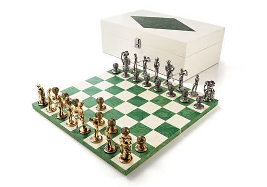 Golf Chess Set is perfect for golfer who loves chess too