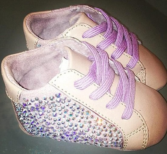 Ruth Davis designs shoes for Beyonce's baby girl embellished with Swarovski crystals