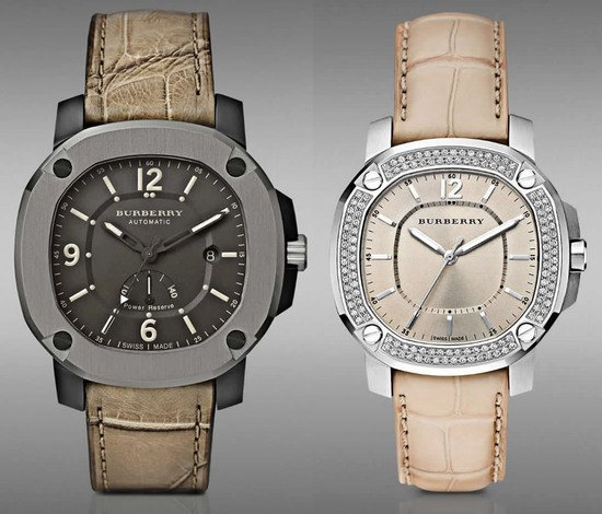 The Britain watch collection by Burberry is influenced by its iconic trench coat