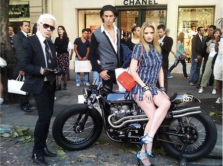 Chanel executes a photo shoot with the 'easy rider'