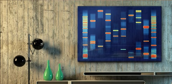 Turn your DNA into spectacular wall art -