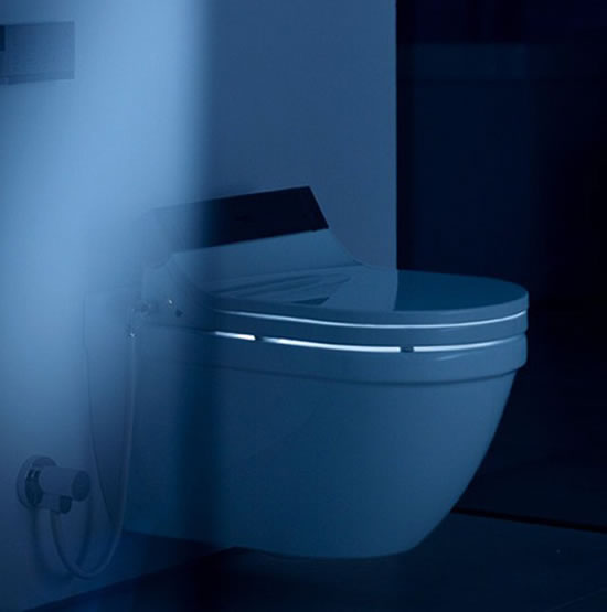 duravit 39 s sensowash is a new hot seat for your loo. Black Bedroom Furniture Sets. Home Design Ideas