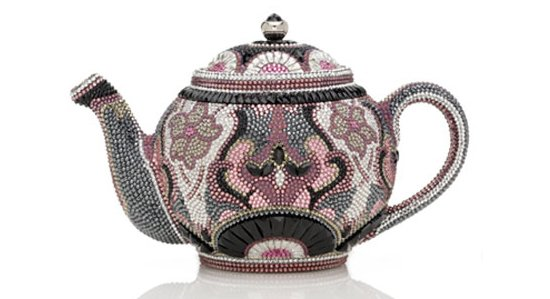 Judith Leiber Earl Grey Teapot Minaudiere is a beautiful keepsake