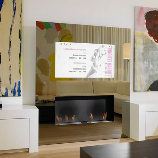 One for the luxury home: Eco friendly fireplaces with built in LCD TV