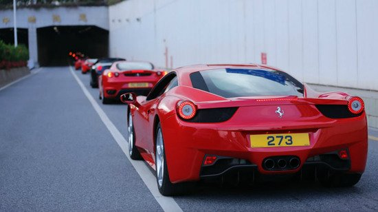 Ferrari's 20th anniversary in China is marked with their biggest parade ever in Guangzhou