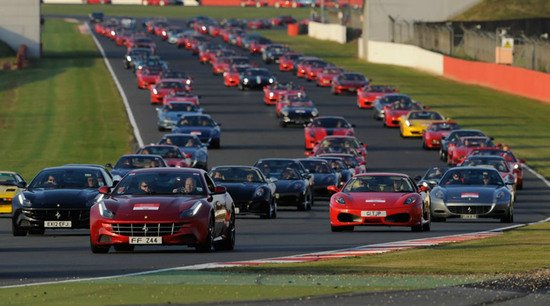 World's largest parade of Ferrari cars set a new Guinness world record