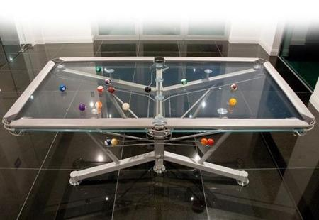 G1 Glass Top Pool Table: The world's first glass Top table