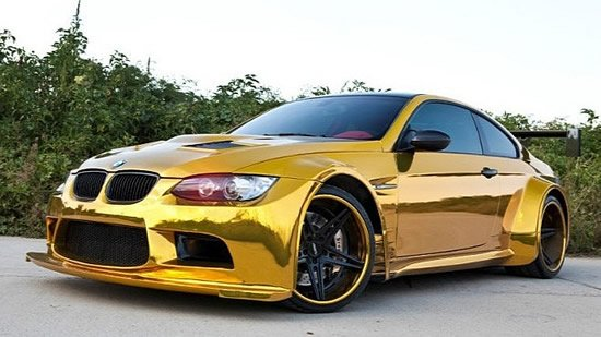 Gold Bmw M3 Spotted In China
