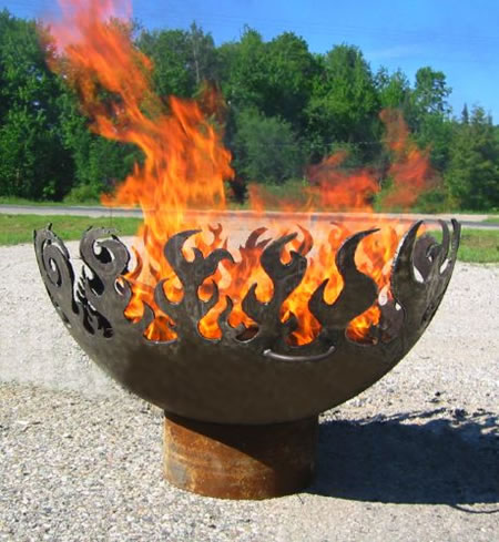 Keep yourself warm and your backyard pretty with the Great Bowl O Fire
