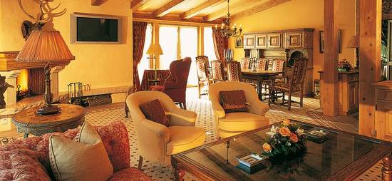 Penthouse Suite at the Gstaad Palace, Swizerland is what heaven must be like