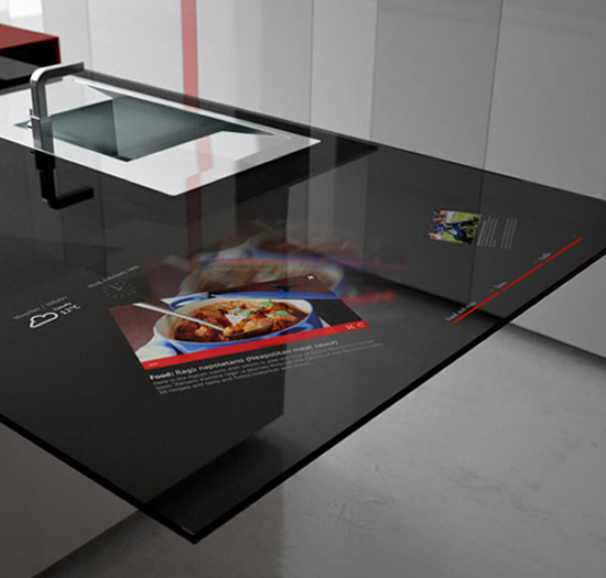 High-tech Kitchen Gets Interactive With An In-built