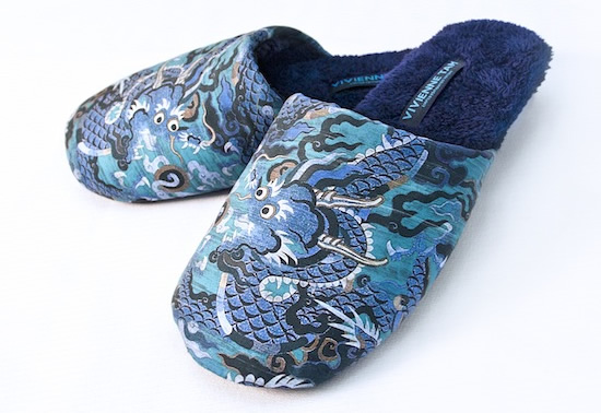 Hilton woos Chinese travelers with limited edition slippers by Vivienne Tam