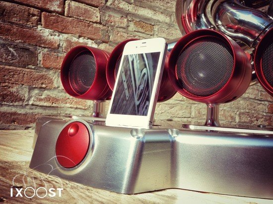 iXoost iPod docking station is made from a supercars exhaust