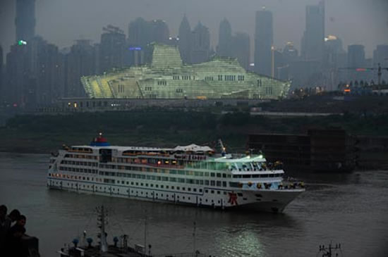 World's most luxurious inland cruise ship Yangtze River Golden No.1 makes maiden voyage