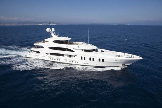 Superyacht Lady Linda set to sail in the Mediterranean