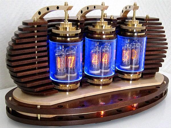 Lamina Nixie Clock fuses the Art Deco Industrial and
