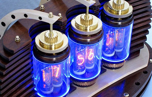 Lamina Nixie Clock Fuses The Art Deco Industrial And