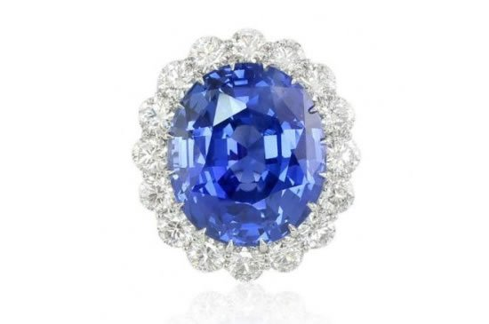 The largest and most expensive 69ct Royal Blue Sapphire Ring on sale